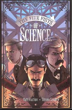 Five Fists Of Science - BACK IN PRINT! True story: In 1899, Mark Twain and Nikola Tesla decided to end war forever. With Twain's connections and Tesla's inventions, they went into business, selling world peace. So what happened? Only now can the tale be told - in which Twain and Tesla collided with Edison and Morgan, an evil science cabal merging the Black Arts and the Industrial Age. Turn of the century New York City sets the stage for a titanic battle over the very fate of the mankind.
