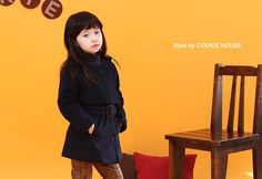 Korea children's No.1 Shopping Mall. EASY & LOVELY STYLE [COOKIE HOUSE] No collar Coat / Size : 7-15 / Price : 58.26 USD #cute #koreakids #kids #kidsfashion #adorable #COOKIEHOUSE #OOTD #outer #outwear #dailylook #dailyfashion #coat #sale