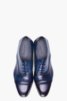 Lanvin Navy Torsade Dress Shoes for men | SSENSE