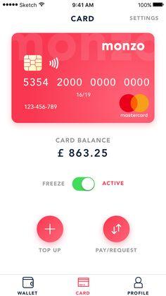 Dribbble - by Nicolas Ciotti Ios App Design, Web Design, Graph Design, Iphone Design, Mobile Ui Design, User Interface Design, Interface App, Credit Card Design, App Design Inspiration