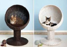 Trono para el gato en bambú