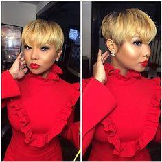 Best Short Hairstyles for Black Women 2018 – 2019 The UnderCut - Kurzhaarfrisuren Short Sassy Hair, Short Hair Cuts, Short Pixie, Short Hairstyles For Women, Girl Hairstyles, Short Weave Hairstyles, Hairstyles 2018, Trendy Hairstyles, 27 Piece Hairstyles