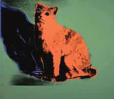 Andy Warhol: Cat, 1976.More Pins Like This At FOSTERGINGER @ Pinterest