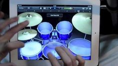 He is a real drummer who used the Garage Band App to do an amazing drum solo.