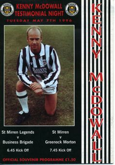 St Mirren 0 Morton 1 in May 1996 at Love Street. The programme cover #SPL