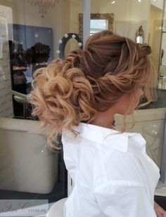 Wedding Hairstyle   : Featured Hairstyle: Elstile;Âwww.elstile.ru; Wedding hairstyle idea.