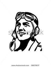 Image result for ww2 fighter pilot headgear vector