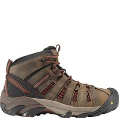 1007972 KEEN Men s Flint Mid Safety Boots - Slate Black 95f5dd22662