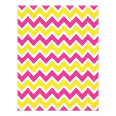 ca734a24150b1 Yellow and Pink Chevrons Zigzag Pattern Full Color Flyer Purple Gold