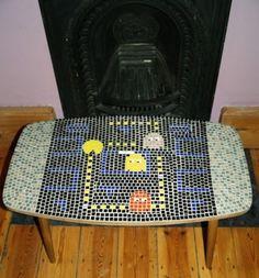 Pac-Man Coffee Table Mosaic on Global Geek News.