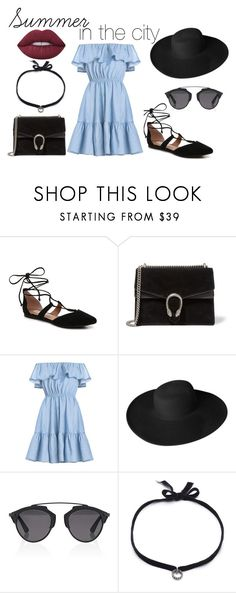 """""""Summer in the city"""" by sarra-rafa on Polyvore featuring mode, Steve Madden, Gucci, Dorfman Pacific, Christian Dior, DANNIJO, Lime Crime et Summer"""