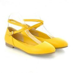 $15.46 Cute Laconic PU Leather Women's Flat Shoes With Solid Color and Straps Design