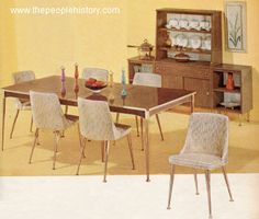 home style from the 1960s | Furniture for your home in the 1960's prices and examples