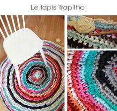 DIY tapis tshirt recyclé trapilho