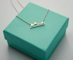 Rose Gold Mountain Top Necklace, Dainty Mountain Pendant Necklace, Snowy Mountain Top Necklace, Mountain Charm, Nature Jewelry by TinksbyJustine on Etsy Cute Jewelry, Jewelry Box, Jewelry Accessories, Trendy Accessories, Stylish Jewelry, Simple Jewelry, Silver Jewelry, Silver Necklaces, Jewelry Necklaces