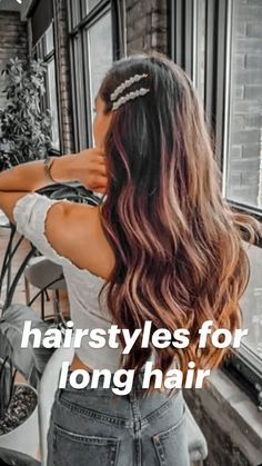 Curly Hair Tips, Easy Hairstyles For Long Hair, Teen Hairstyles, Braids For Long Hair, Ponytail Hairstyles, Pretty Hairstyles, Hair Ponytail, Ponytail Styles, School Hairstyles