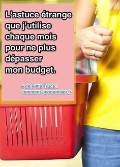 Quand je me fixe un budget au-dessus de ce que je pensais être raisonnable, je réussis à dépenser moins ce mois-là que lorsque je me fixe un objectif en-dessous du raisonnable.  Découvrez l'astuce ici : http://www.comment-economiser.fr/astuce-etrange-pour-ne-plus-depasser-son-budget-courses.html?utm_content=buffer25151&utm_medium=social&utm_source=pinterest.com&utm_campaign=buffer
