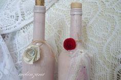 decoupage wine bottles