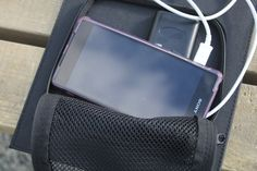 Xenta solar power backpack charger, ideal for festivals
