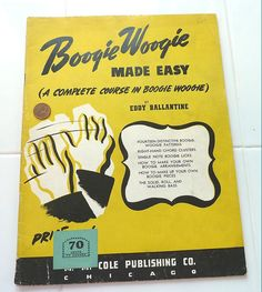 This book is in wonderful condtion. Boogie Woogie, Make It Simple, Sheet Music, This Book, Easy, Prints, How To Make, Handmade, Craft