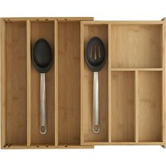 Expandable Bamboo Gadget Tray | Crate and Barrel