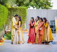 The Big Fat Indian Wedding couple poses The Must Have Bride & Bridesmaids Photos Indian Wedding Poses, Indian Wedding Couple Photography, Big Fat Indian Wedding, Indian Wedding Bridesmaids, Indian Weddings, Funny Wedding Poses, Indian Engagement Photos, Indian Wedding Pictures, Pre Wedding Poses