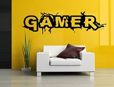 Amazon.com: Wall Room Decor Art Vinyl Sticker Mural Decal Gamer Word Game Big Large AS788: Baby