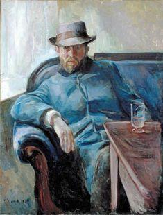 Edvard Munch (Norwegian, 1863-1944), Hans Jæger, 1889. Oil on canvas, 109 x 84 cm.