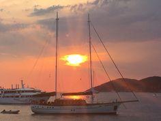 Sunset in Hvar Croatia