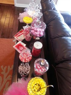 Candy bar for baby shower