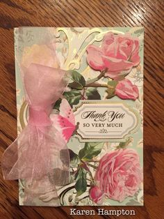 Anna Griffin roses and butterfly card