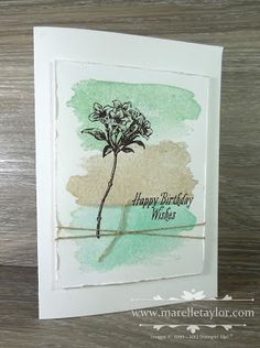 Marelle Taylor Stampin' Up! Demonstrator Sydney Australia: Clean and Simple Avant Garden