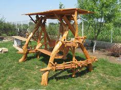 mobilier rustic unicat pentru interior si gradina