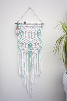 Macrame wall hanging / rope wall hanging / weaving / wall art / rope decor / wall hangings / nursery decor / turquoise no.1