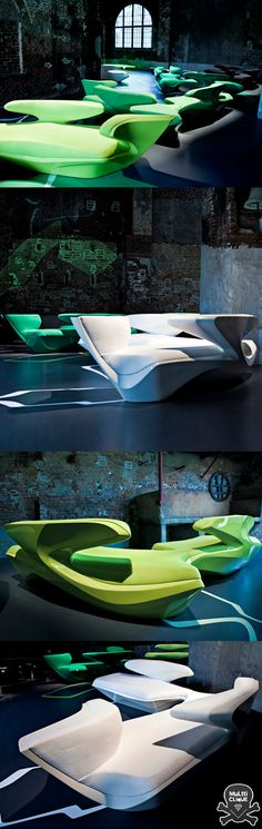 :: Zaha Hadid Don't know how comfortable these are but they look cool!