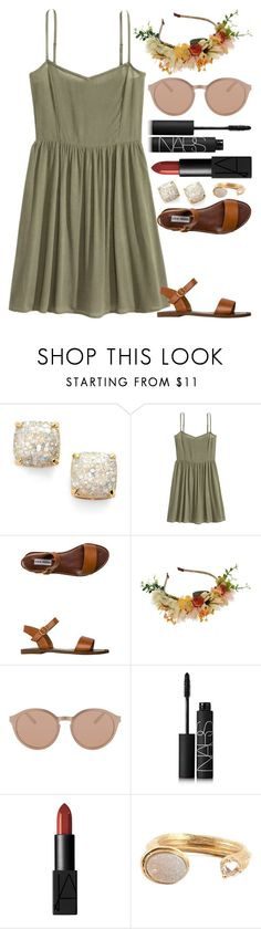 """"""""""" by kk-purpleprincess ❤ liked on Polyvore featuring Kate Spade, Steve Madden, Linda Farrow Luxe, NARS Cosmetics and Kelly Wearstler"""