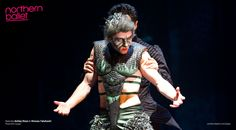 Ashley Dixon as The Beast with Hironao Takahashi as Alfred, a man-servant. Photo Bill Cooper.