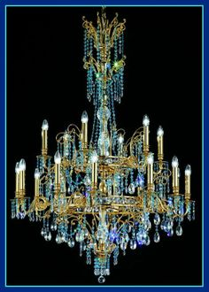 Two Tier Crystal Chandelier, £12,752.48. For more information about this magnificent chandelier please visit: http://www.italian-lighting-centre.co.uk/crystal-glass-chandeliers/tier-crystal-chandelier-p-4147.html