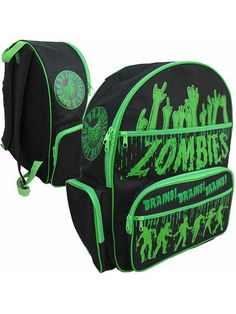 """Zombie"" Backpack by Kreepsville 666 (Black/Green) #InkedShop #backpack #zombie"