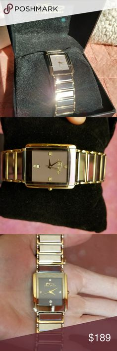Men's Wristwatch Tungsten Eclipse, by Daniel Steigler . Never worn. Perfect condition. In box. Metal, with gold tone accents. Stainless steel closure. Currently selling on eBay for $450-229. Daniel Steigler Accessories Watches