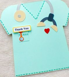 Special Doctor, Vet or Nurse Handmade Thank You Card Handmade Thank You Cards, Thank You Gifts, Retirement Cards, Doctor Gifts, Get Well Cards, Graduation Cards, Punch Art, Nurse Gifts, Scrapbook Cards