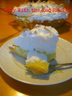 My dad's mile high lemon meringue pie.You will love this pie! The best! #lemonmeringuepie ~LadyWithTheRedRocker~
