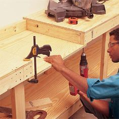 Photo 4: Form the miter saw bay
