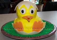 Baby Duck.  A Chance of Showers can create a Baby Shower theme around this lovely cake. Like A Chance of Showers on facebook! http://www.facebook.com/chanceofshowersonline