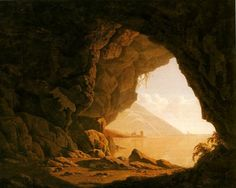Joseph Wright Of Derby - A Grotto by the Seaside in the Kingdom of Naples.