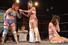 Makoto getting humiliated by Kana http://hubpages.com/sports/Japanese-Women-Wrestling-3  #Joshipuroresu