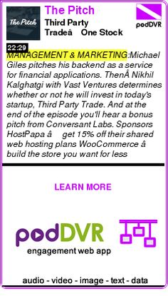 #MANAGEMENT #PODCAST  The Pitch    Third Party Trade—One Stock Trading API to Rule Them All (Episode 40)    LISTEN...  https://podDVR.COM/?c=8310821d-20e6-d581-b191-36bcf174a4d1