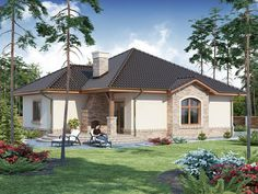 Modern Small One Storey House Design + Plan One Storey House, Small One, Home Design Plans, Design Case, Gazebo, Exterior, House Design, Outdoor Structures, Cabin