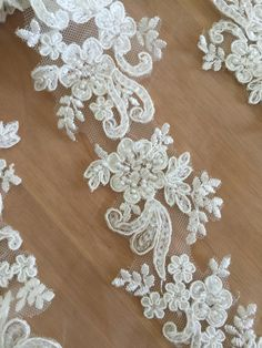 fast-shop Rose Pearl Beads Line Lace Trim Sewing Trim Garment DIY Wedding Dress Decoration Practical and Useful