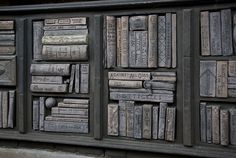 Book Shelf carved from wood.